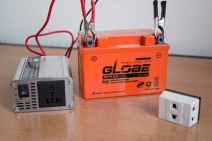 Tự lắp đặt một hệ thống phát điện nhỏ dùng cho router mạng khi cúp điện